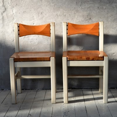 Set of 2 dinner chairs from the sixties by unknown designer for Laukaan Puu Finnland