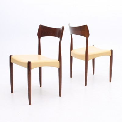 Set of 4 dining chairs by Henry Rosengren for Brande Møbelindustri, 1960s