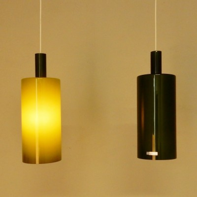 Set of 2 Pisa hanging lamps from the sixties by Jo Hammerborg for Fog & Mørup
