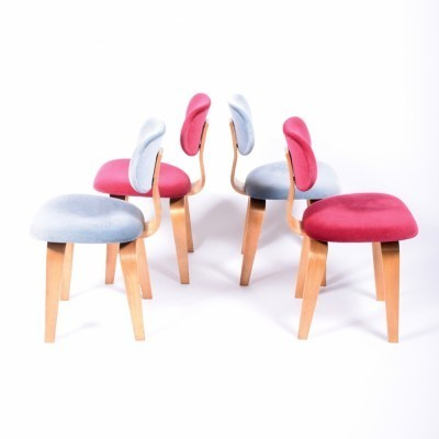 Set of 4 SB03 dinner chairs from the fifties by Cees Braakman for Pastoe