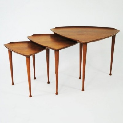 Nesting table by Poul Jensen for Selig, 1950s
