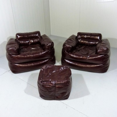 Set of 3 Beanbag seating groups from the seventies by unknown designer for unknown producer