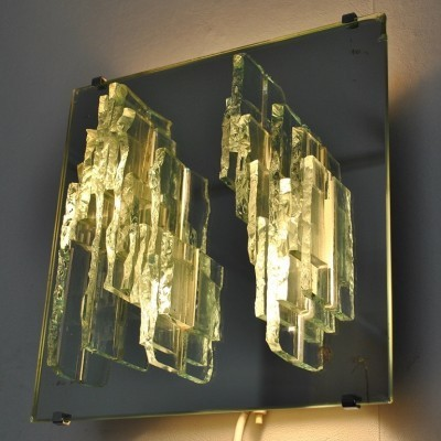 Breukrelief wall lamp by Willem Van Oyen for Raak Amsterdam, 1960s