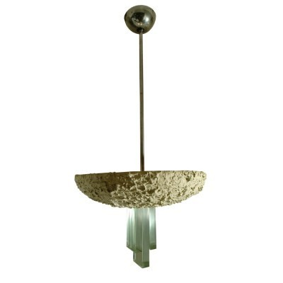 Hanging lamp from the fifties by unknown designer for Fontana Arte