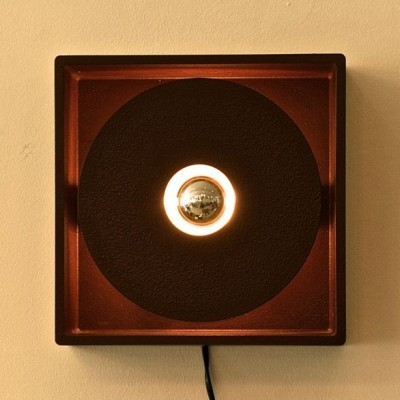 Brutalist wall lamp from the sixties by unknown designer for unknown producer