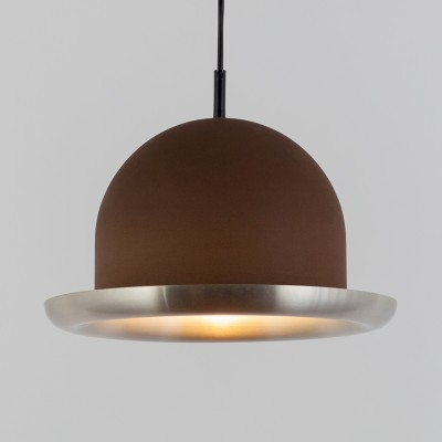 Bowler hanging lamp from the seventies by Cesare Casati & C. Emanuele Ponzio for Raak Amsterdam