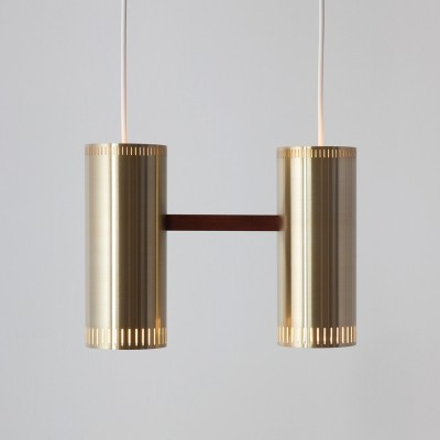 Cylinder hanging lamp from the sixties by Jo Hammerborg for Fog & Mørup