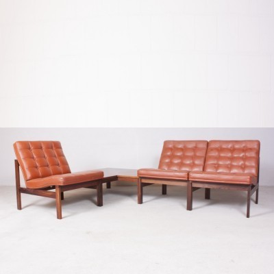 Set of 4 Moduline seating groups from the sixties by Ole Gjerløv Knudsen & Torben Lind for France & Son