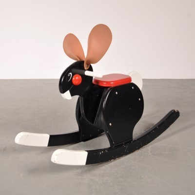 Rocking Bunny by Bjorn Dahlstrom for Playsam, 1980s