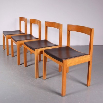 Set of 4 dining chairs by Gerard Geytenbeek for AZS Meubelen, 1960s
