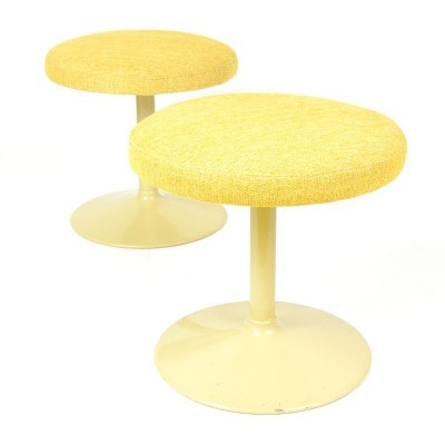 2 stools from the seventies by unknown designer for unknown producer