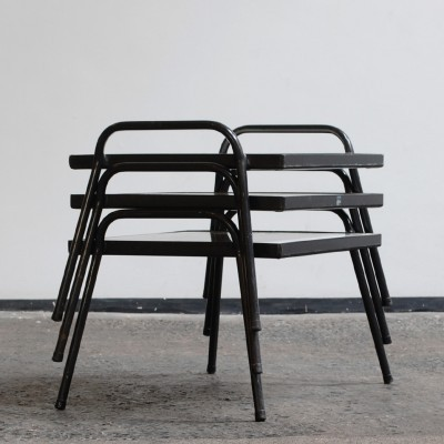 Set of 3 side tables from the fifties by Coen de Vries for Everest