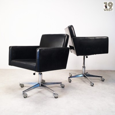 2 office chairs from the fifties by unknown designer for Wilde und Spieth