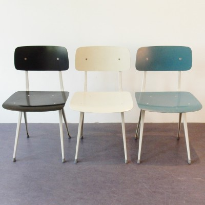 Set of 3 Result dinner chairs from the fifties by Friso Kramer for Ahrend de Cirkel