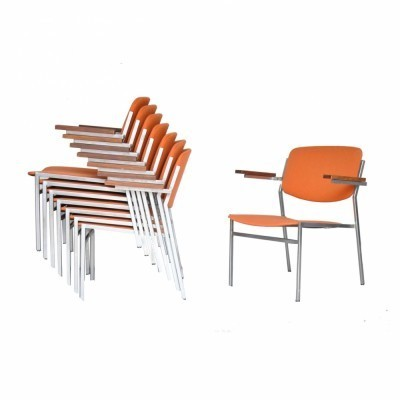 8 arm chairs from the fifties by Martin Visser for unknown producer