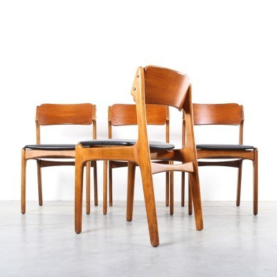 Set of 4 dining chairs by Erik Buck for O. D. Møbler, 1960s