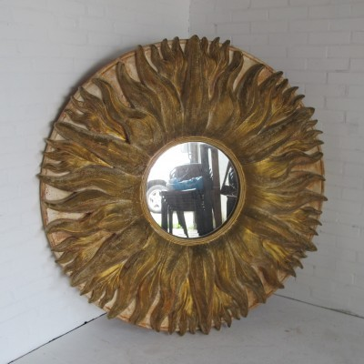 Sunburst mirror from the eighties by Alan Wallis for unknown producer