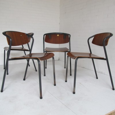Set of 4 Marko Holland dinner chairs, 1950s
