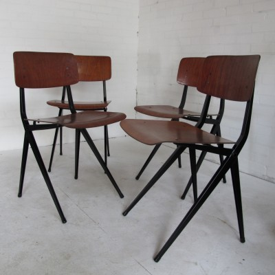Pair of dinner chairs by Ynske Kooistra for Marko Holland, 1950s