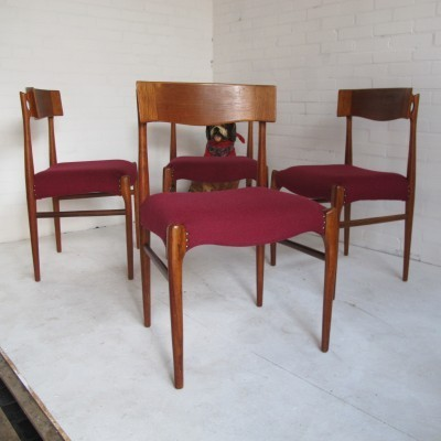 Set of 4 Topform dining chairs, 1950s