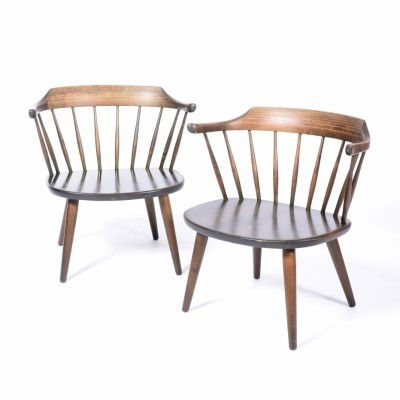 Pair of arm chairs by Yngve Ekström for Småland, 1950s