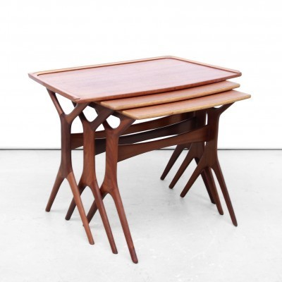 Nesting table from the fifties by Johannes Andersen for Silkeborg Denmark