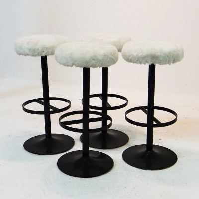 4 Bar stools from the fifties by unknown designer for unknown producer