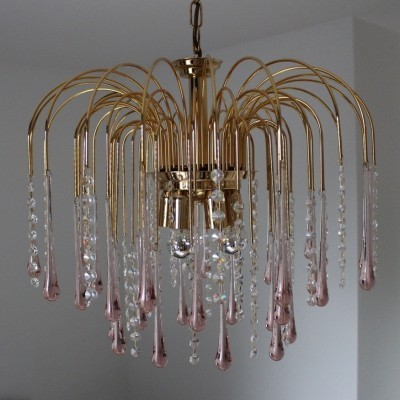 Teardrops hanging lamp from the eighties by Paolo Venini for Murano