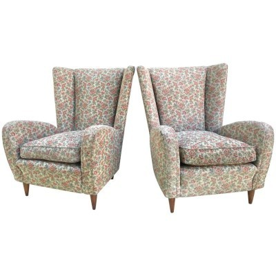 Pair of Paolo Buffa lounge chairs, 1950s