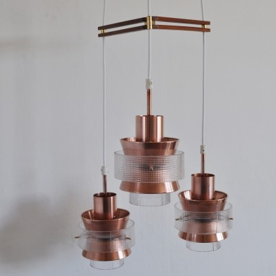 Chandelier hanging lamp from the sixties by unknown designer for unknown producer