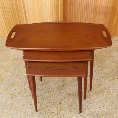 Nesting table from the fifties by Jens Quistgaard for unknown producer