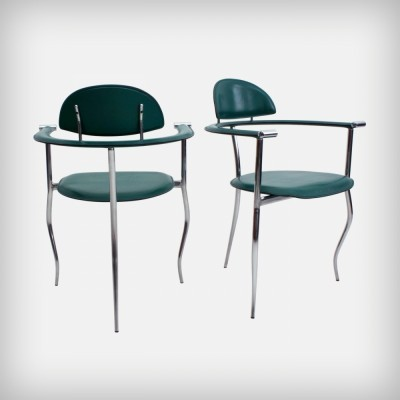 Pair of Marilyn arm chairs by Arrben Italy, 1960s