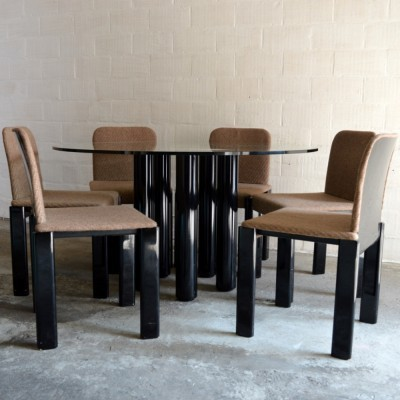 Dining set by Marco Zanuso for Zanotta, 1970s