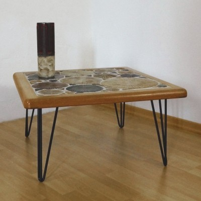 Coffee table by Tue Poulsen for Haslev Møbelsnedskeri, 1960s