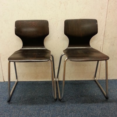 Set of 8 Pagholz Chair dining chairs by Adam Stegner for Flötotto, 1960s