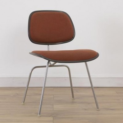 4 Upholstered DCM dinner chairs from the eighties by Charles & Ray Eames for Herman Miller