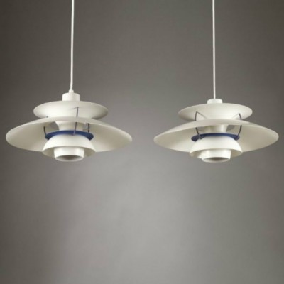 Set of 2 PH 5 hanging lamps from the nineties by Poul Henningsen for Louis Poulsen