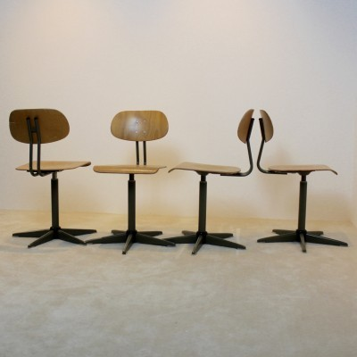 5 dinner chairs from the sixties by unknown designer for unknown producer
