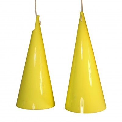 Set of 2 Struten hanging lamps from the sixties by Hans Bergström for Ateljé Lyktan