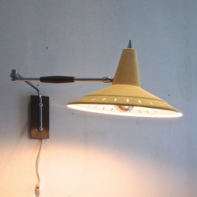 Wall lamp from the sixties by unknown designer for Anvia Almelo
