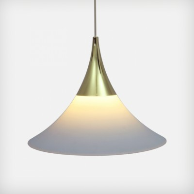 Glashütte Limburg hanging lamp, 1960s