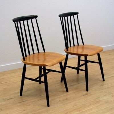 Set of 2 dinner chairs from the sixties by unknown designer for unknown producer