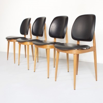 Set of 4 Pierre Guariche dinner chairs, 1950s