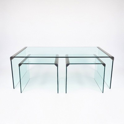 Set of 3 coffee tables from the seventies by unknown designer for Gallotti & Radice