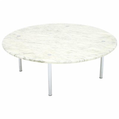 Erwine & Estelle Laverne White Marble Coffee Table, 1954