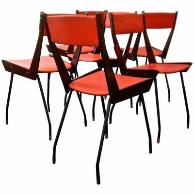 Set of 6 RB dining chairs, 1950s