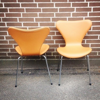 10 AJ 3107 dinner chairs from the fifties by Arne Jacobsen for Fritz Hansen
