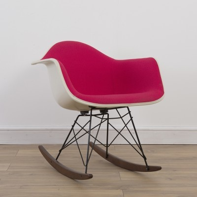 Upholstered RAR Rocking Chair by Charles and Ray Eames and Alexander Girard for Herman Miller