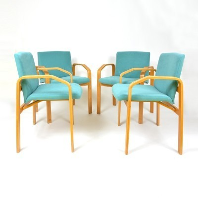 4 dinner chairs from the eighties by unknown designer for unknown producer