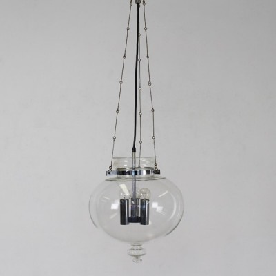 Hanging lamp from the sixties by unknown designer for Limburg Glashutte